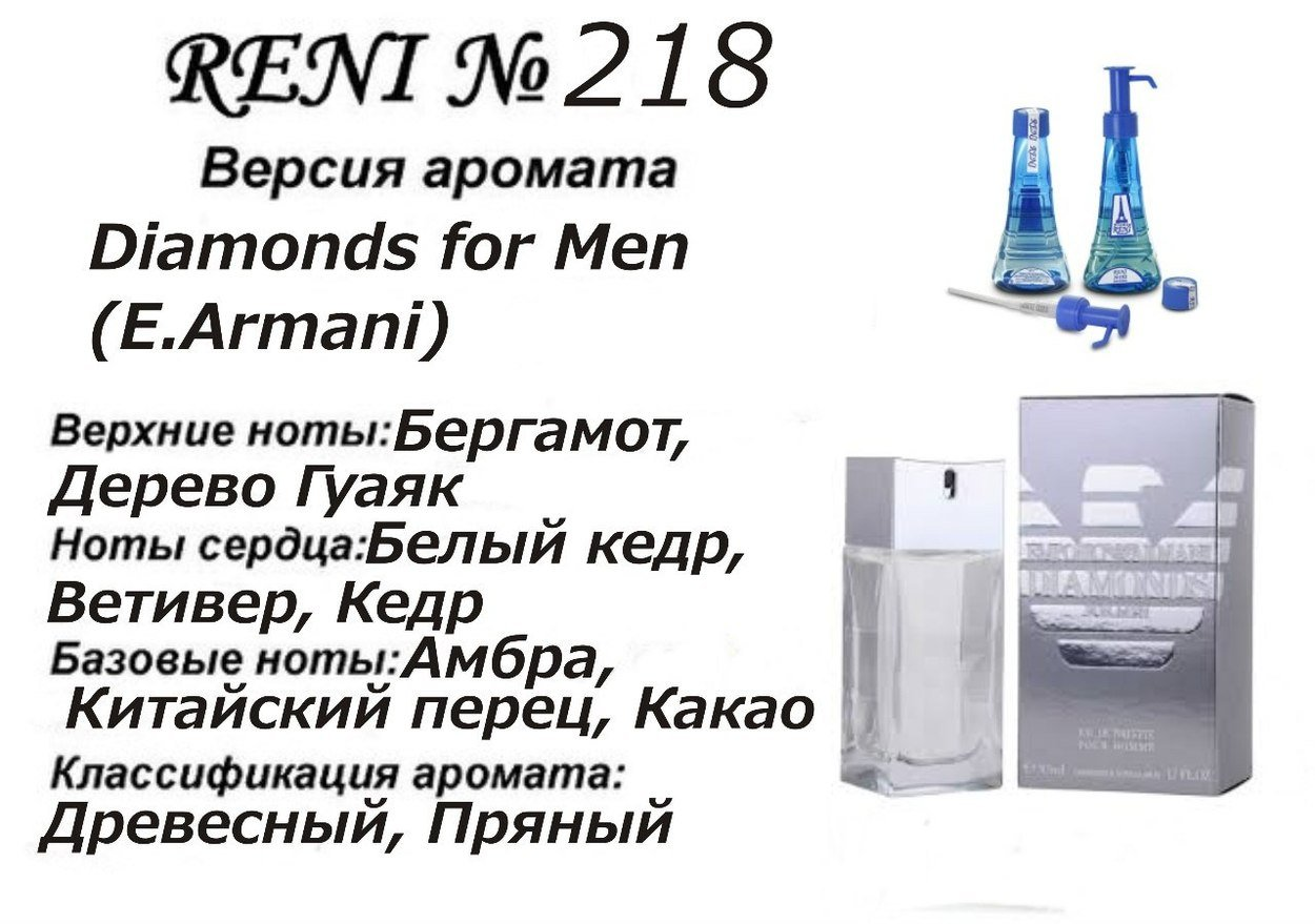 Духи Reni 218 - Diamonds for Men (Giorgio Armani) - 100 мл