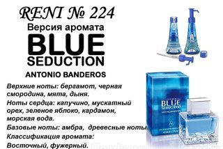 Духи Reni 224 - Blue Seduction Men (A.Banderas)